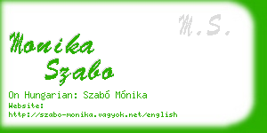 monika szabo business card